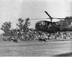 Police Display 1965 with dogs and handlers dropped from helicopters