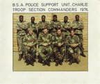 Charlie Troop Section Commanders 1976