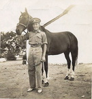 Robert in Depot with his horse Ruby - 1937