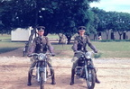 Motor Cycle Escort Plumtree 1955 Constables F  Punter  left  and R  Punter on Matchless 500 cc singles