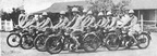 1927 First Official BSAPolice motorcyclist on BSA L26 350cc models  Note the riders wearing spurs