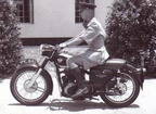 1958 - 5712 Hugh Ross-Kent on a 1955 Matchless G80 motorcycle