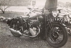 B S A  Police motorcycle at Mashaba Police Station  1940  A 1937 BSA 500cc side valve M20