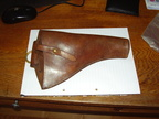 1954 Revolver holster in leather.