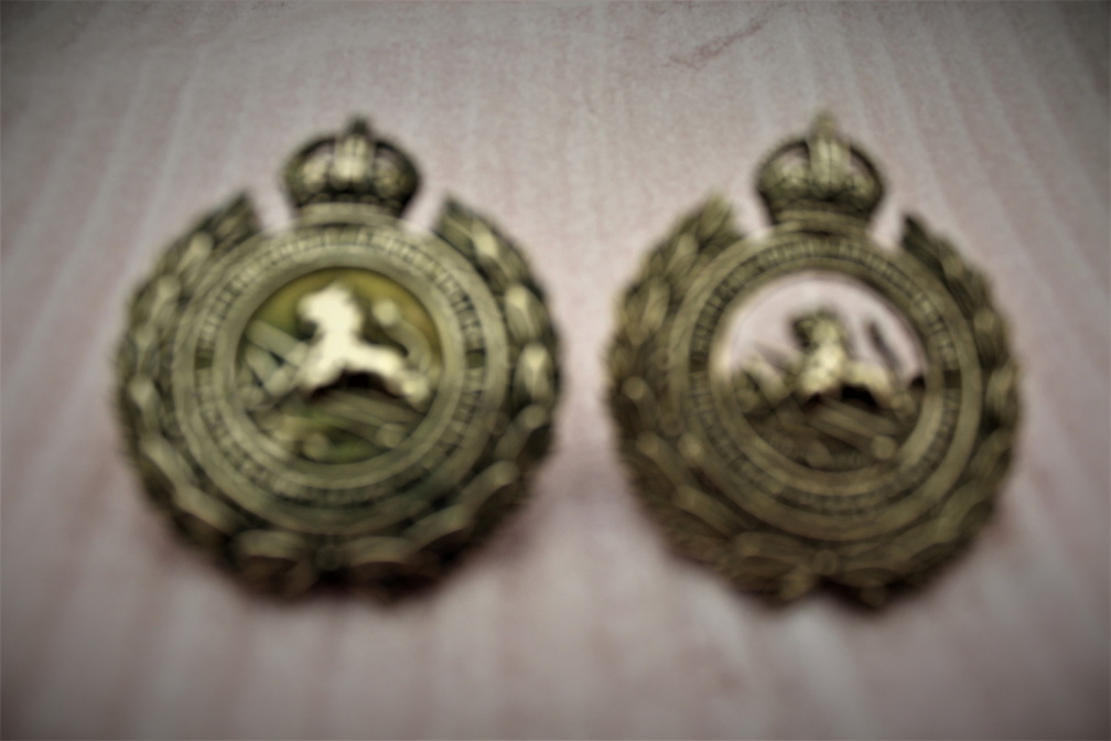 1933 -47 cap badges.