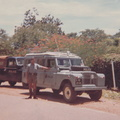 P.O. Shelley with Zambia Police Landrover and Kariba Police Landrover. Liaison visit.